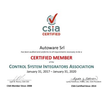 Certificate Autoware