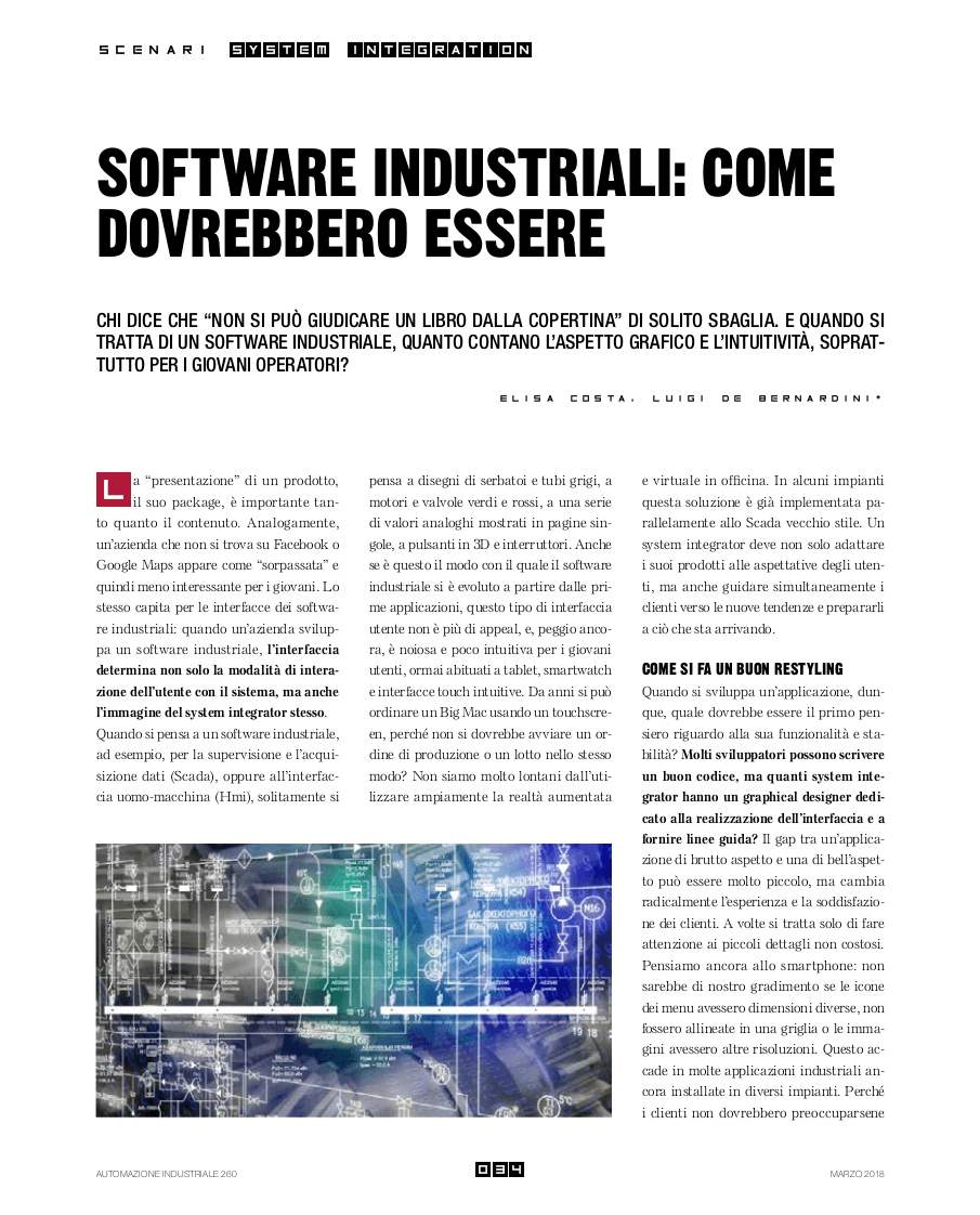 Interfacce Software Industriali